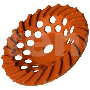Чашка турбо  D180/22,23/24 (30x8x5) GrOST для мозаично-шлифовальной машины