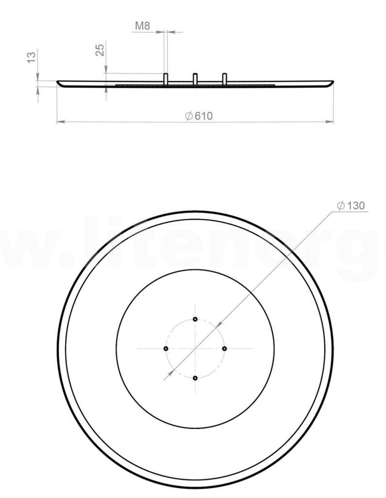 Затирочный диск 610 для GROST ZMЕ-6070